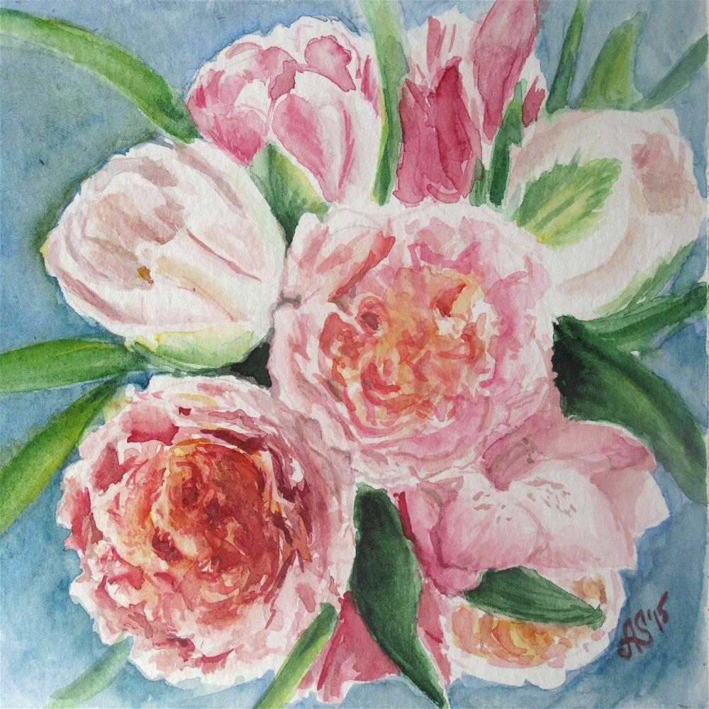 """In pink mood"" original fine art by Anna Starkova"