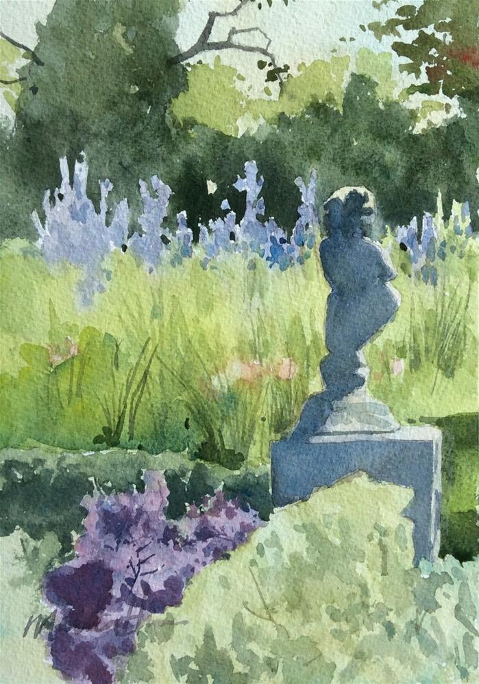 """Field of Sage"" original fine art by Marita Hines"