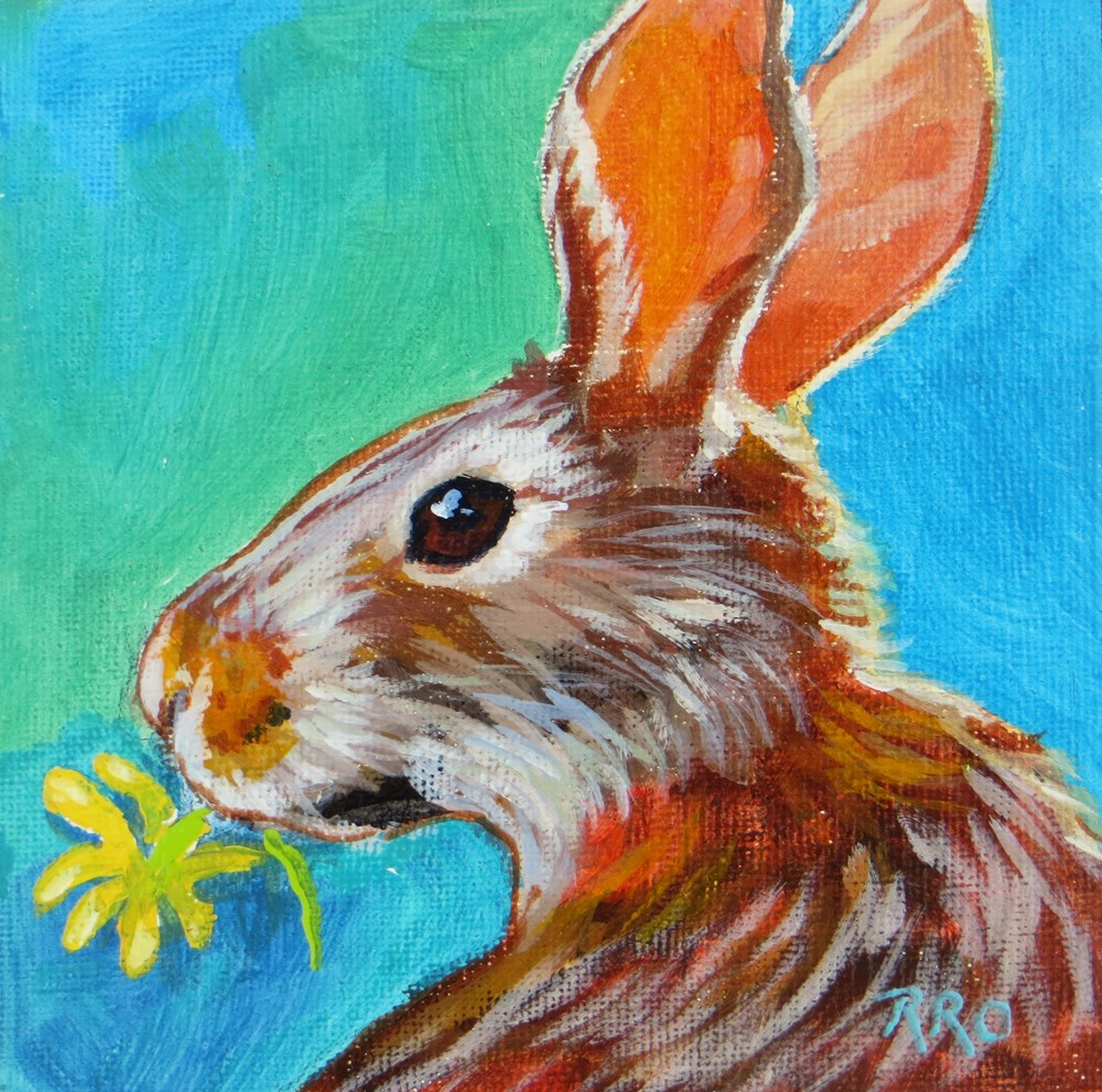 """Daisy Lunch"" original fine art by Rhett Regina Owings"