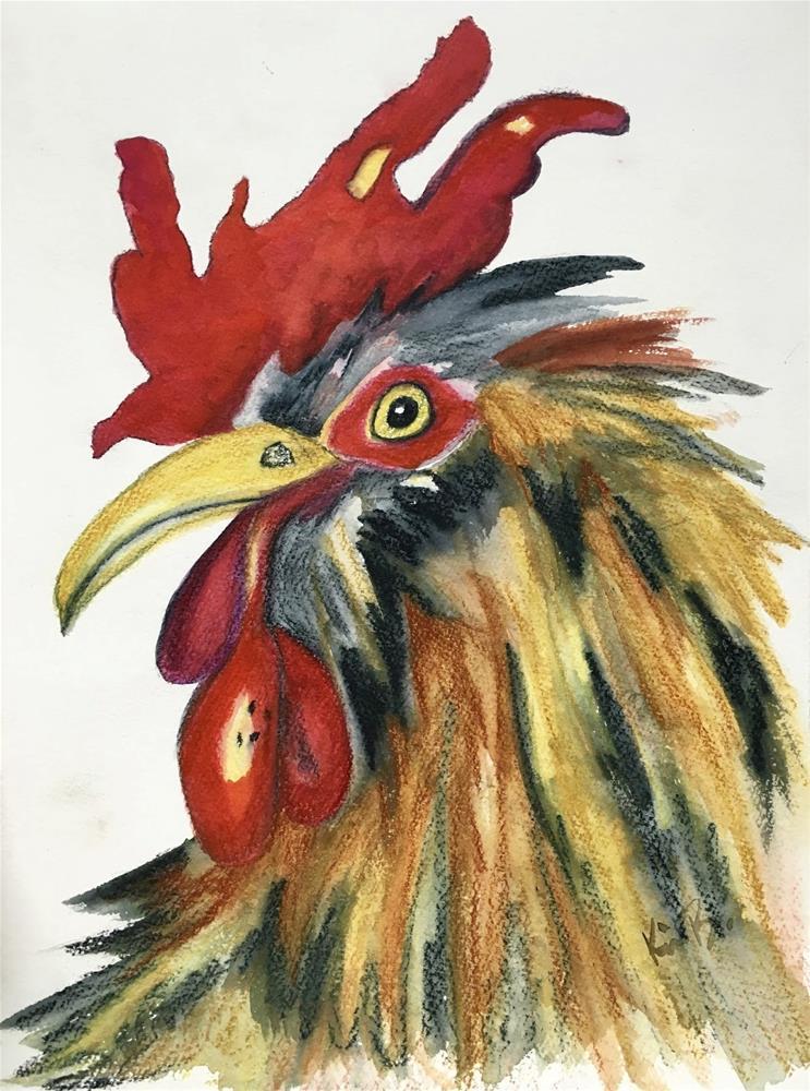 """Wild Eyes"" original fine art by Kimberly Balentine"