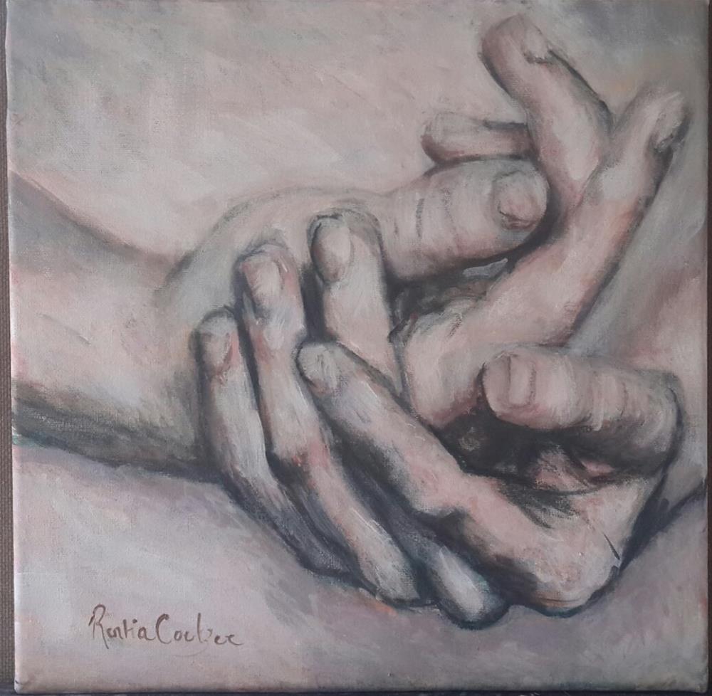 """""""Humble hands"""" original fine art by Rentia Coetzee"""