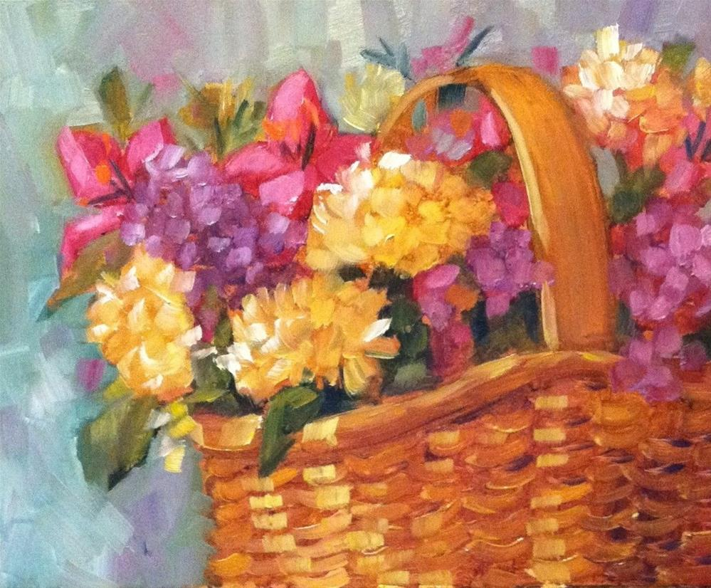 """Sunlit Basket"" original fine art by Libby Anderson"