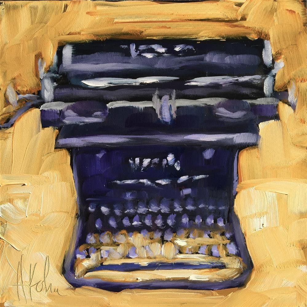 """""""Silent Typewriter"""" original fine art by Hallie Kohn"""