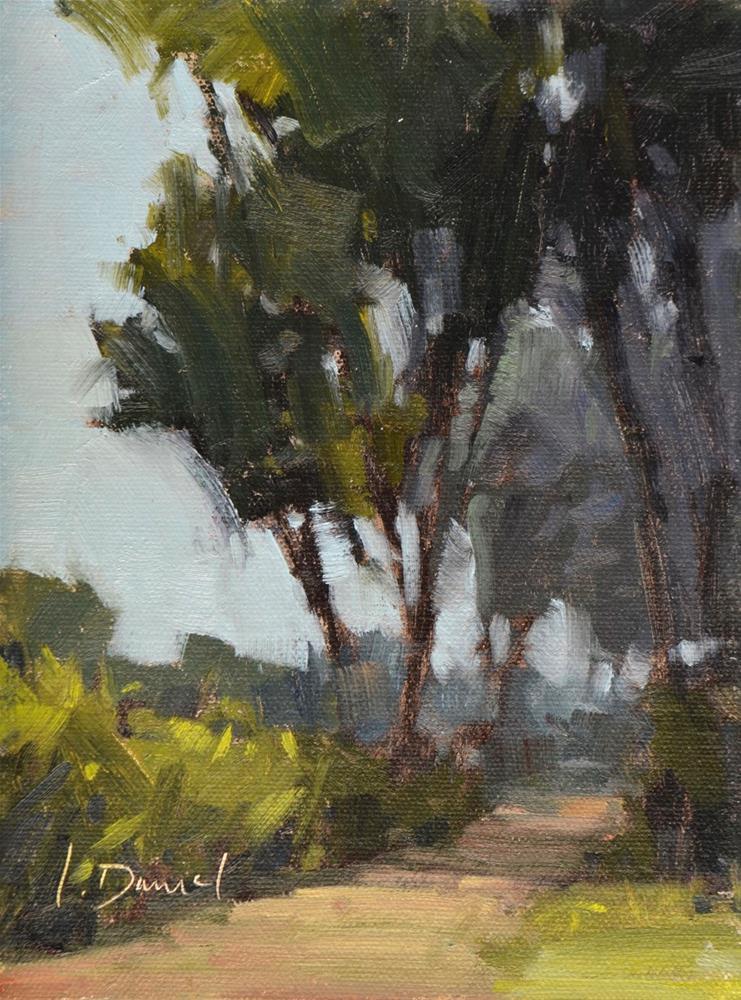 """Dappled Trail"" original fine art by Laurel Daniel"