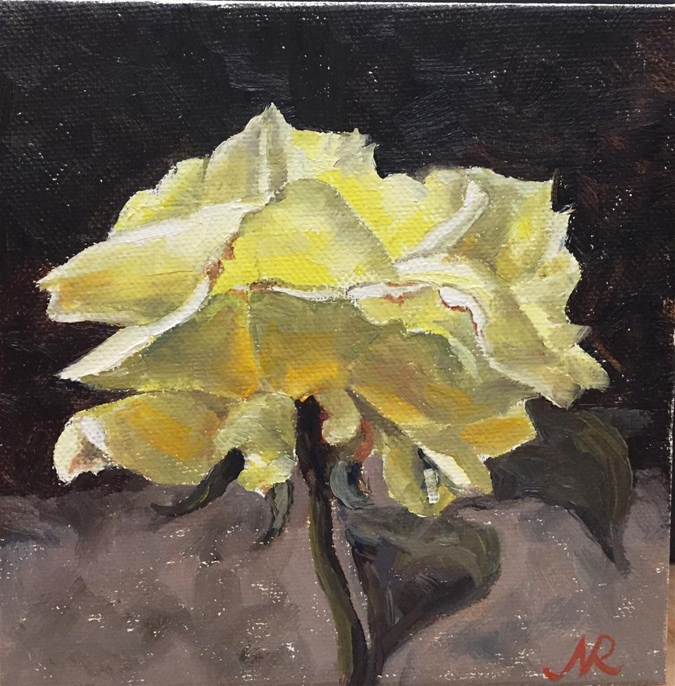 """""""Yellow rose"""" original fine art by Natasha Ramras"""