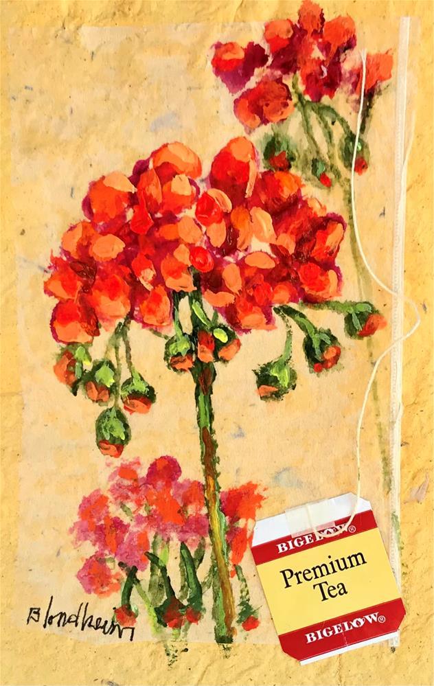 """""""Gerraniums"""" original fine art by Linda Blondheim"""