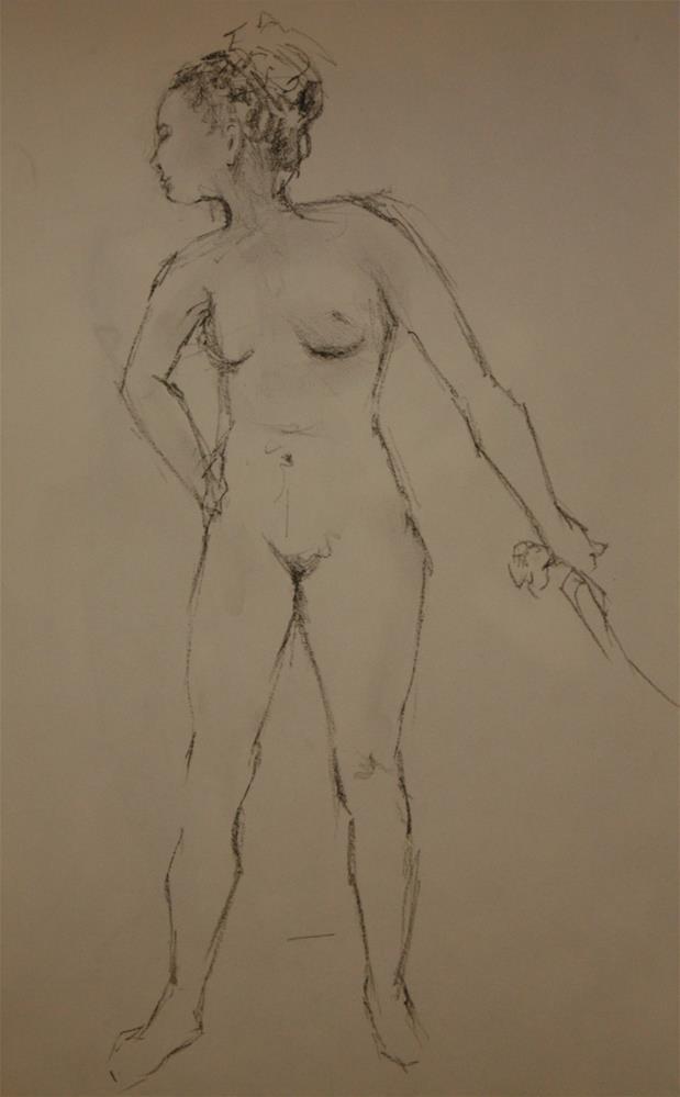 """""""Figure 4"""" original fine art by Sheila Marie"""
