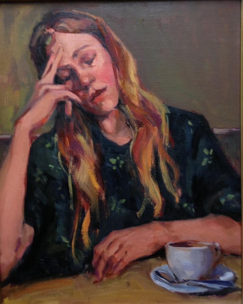 """I need some Coffee"" original fine art by Laurie Johnson Lepkowska"