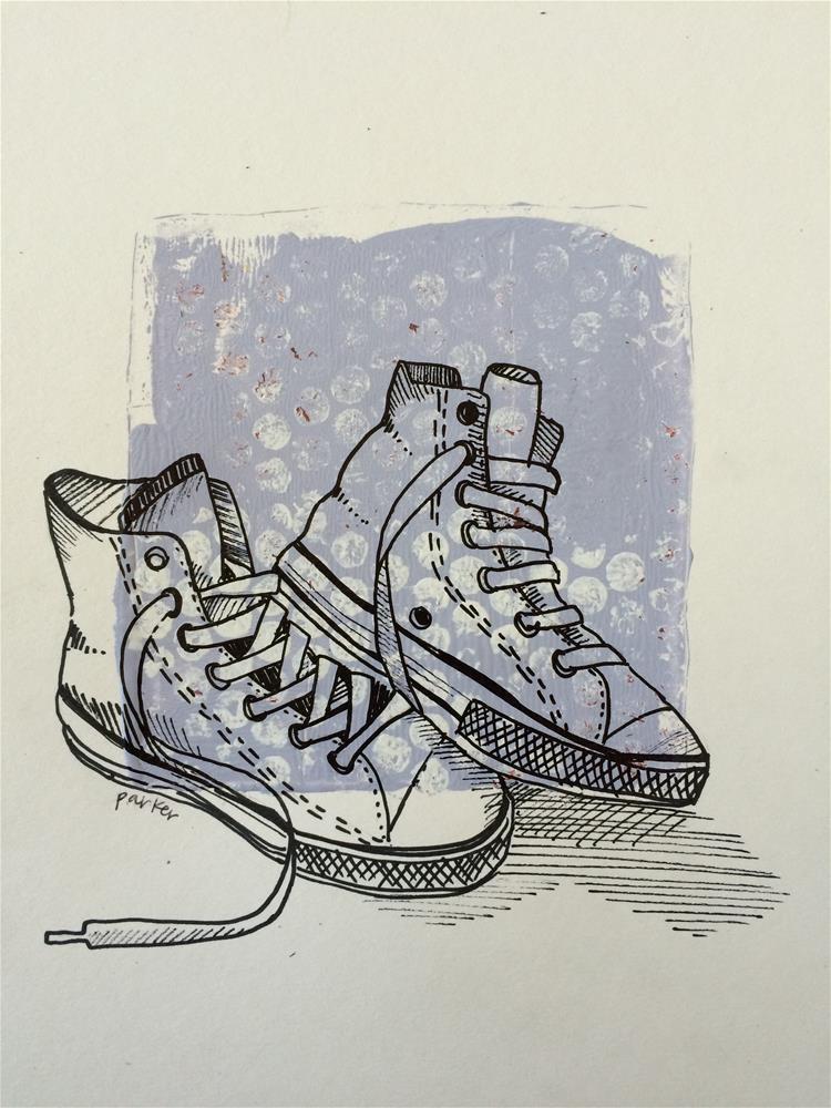 """Chucks Print"" original fine art by Teddi Parker"