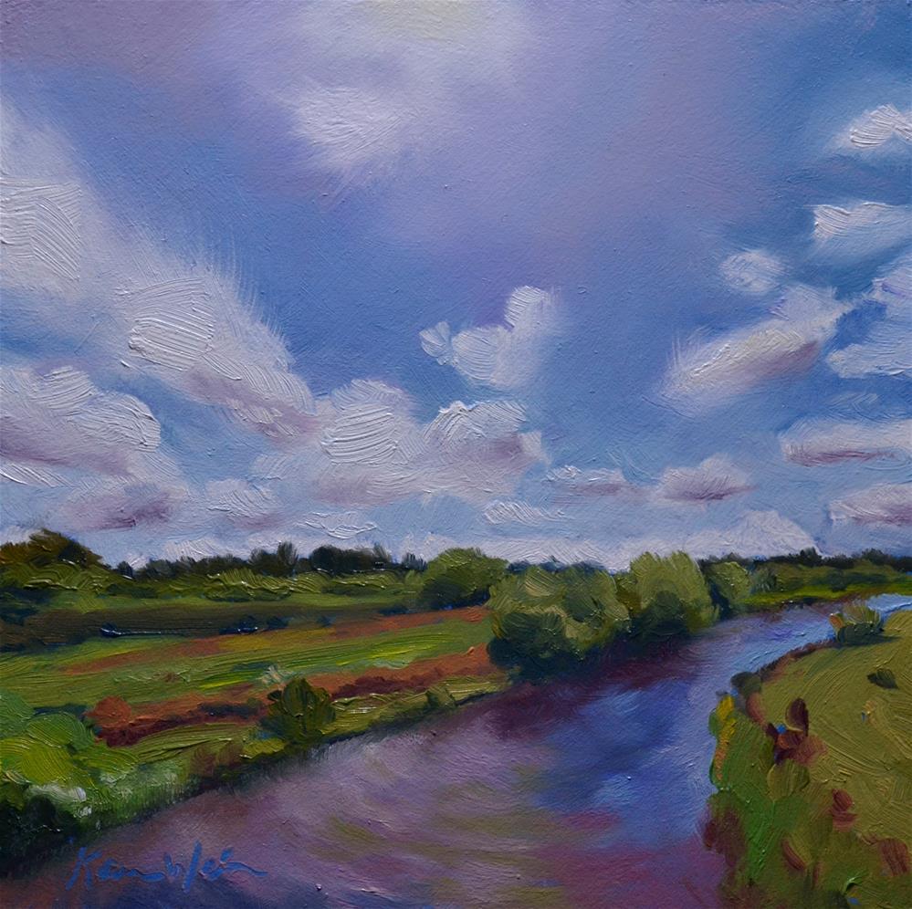"""""""A River Runs Through It"""" original fine art by Karen Weber"""