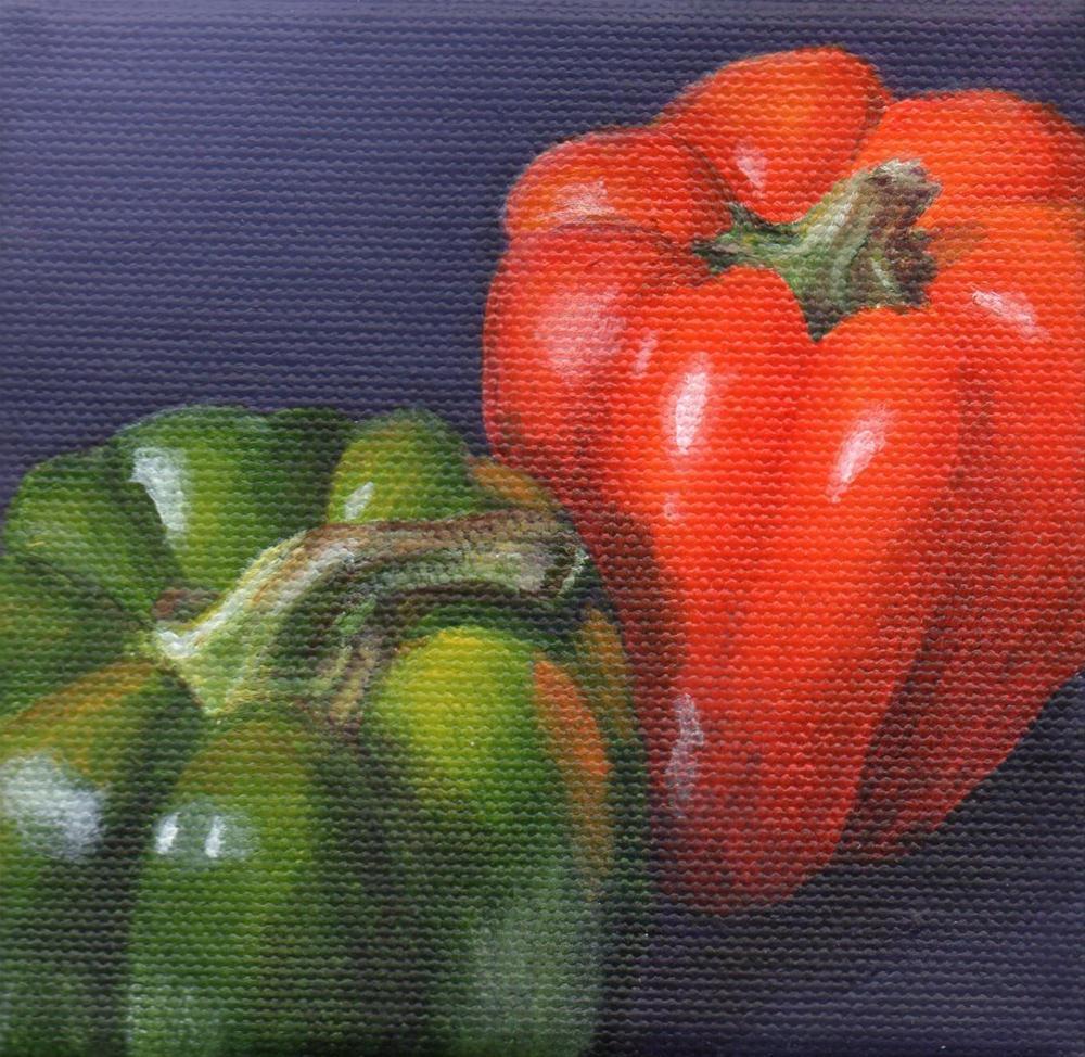 """Pepper Pals"" original fine art by Debbie Shirley"