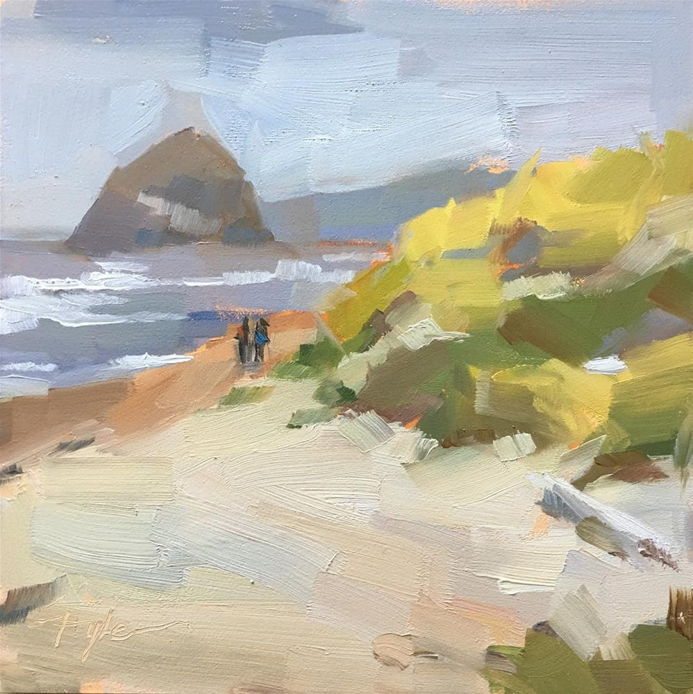"""Haystack Rock"" original fine art by Katia Kyte"