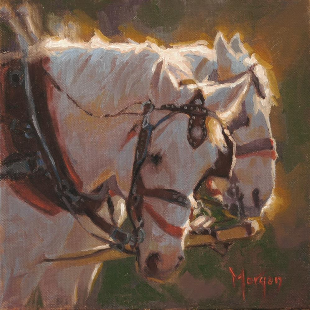 """""""The Morning Shift"""" original fine art by Cecile W. Morgan"""