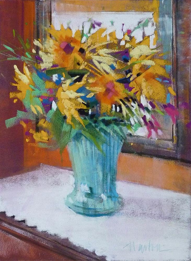"""Sunflowers"" original fine art by Barbara Benedetti Newton"