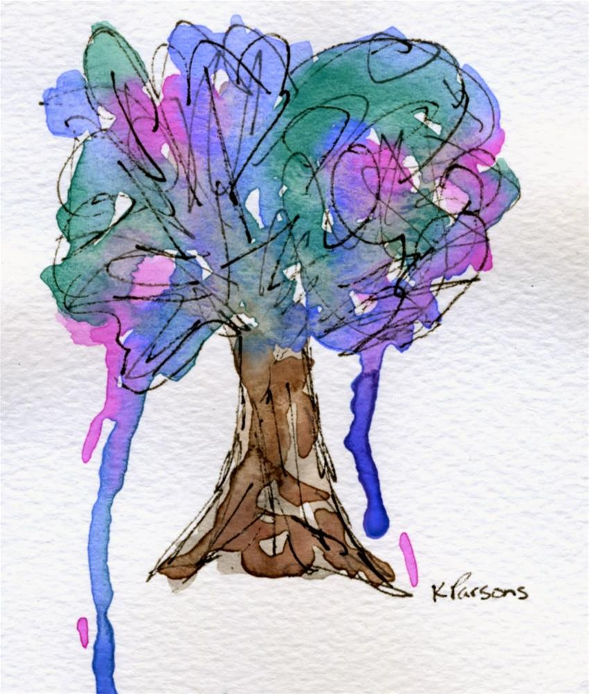 """Black and Blue Dreams"" original fine art by Kali Parsons"
