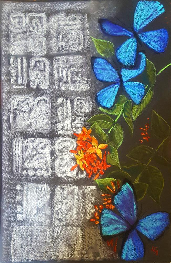 """Alma Azul (Blue Soul)"" original fine art by Anna Lisa Leal"