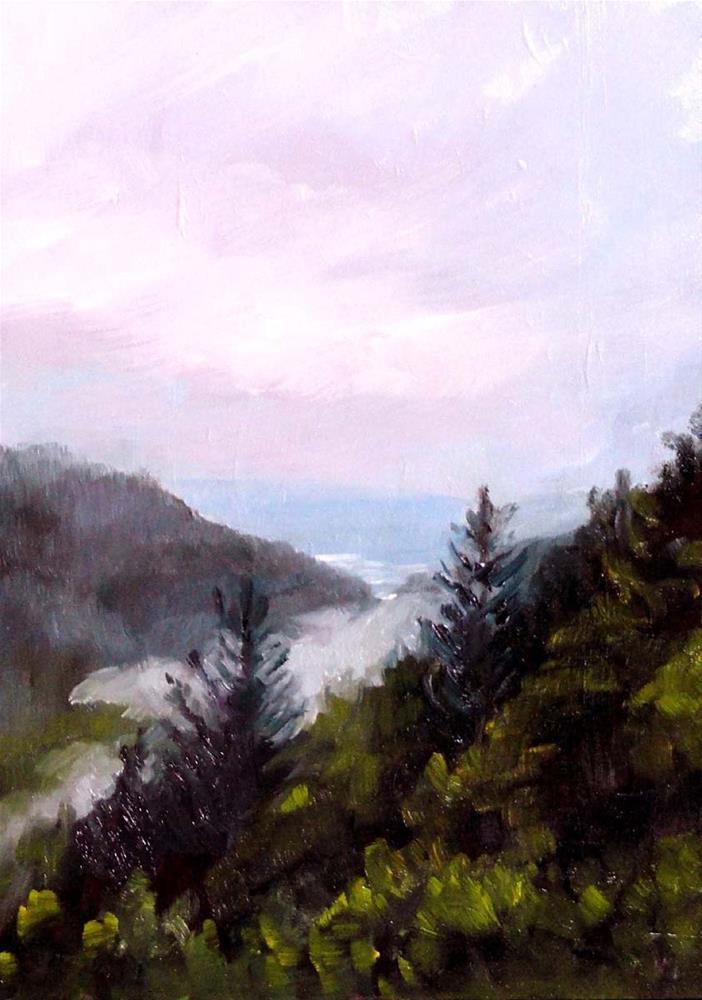 """Fog In Whale Gulch"" original fine art by Cietha Wilson"