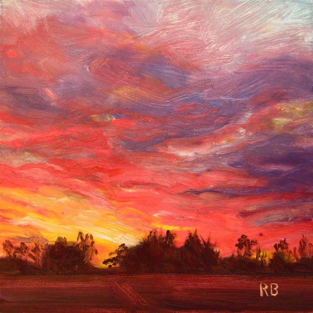 """November Sunset"" original fine art by Robie Benve"