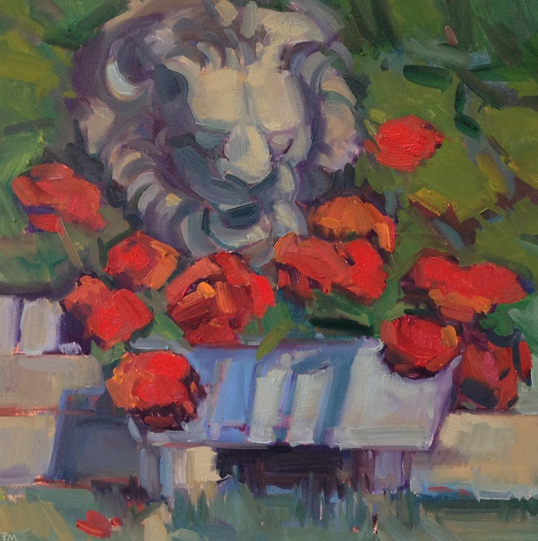 """The Lion in Summer"" original fine art by Patti McNutt"
