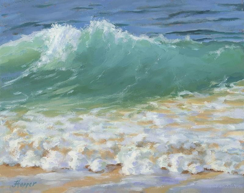 """""""A Little Wave"""" original fine art by Joanne Hopper"""