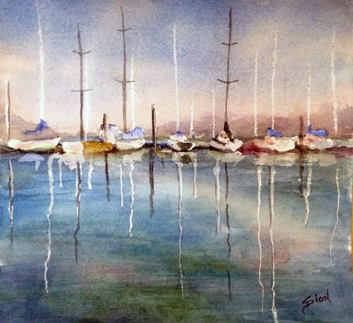 """Sittin' in the Morning Sun"" original fine art by Sue Dion"