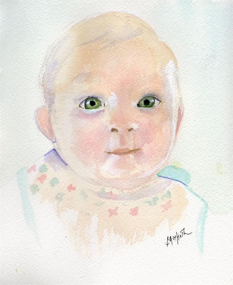 """Baby Portrait"" original fine art by Bunny Griffeth"