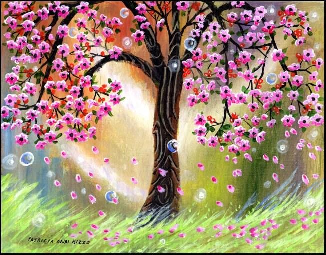 """Tree of Sweet, Sweet Dreams"" original fine art by Patricia Ann Rizzo"