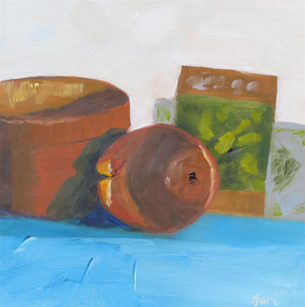 """""""Well Loved Pots"""" original fine art by Kari Melen"""