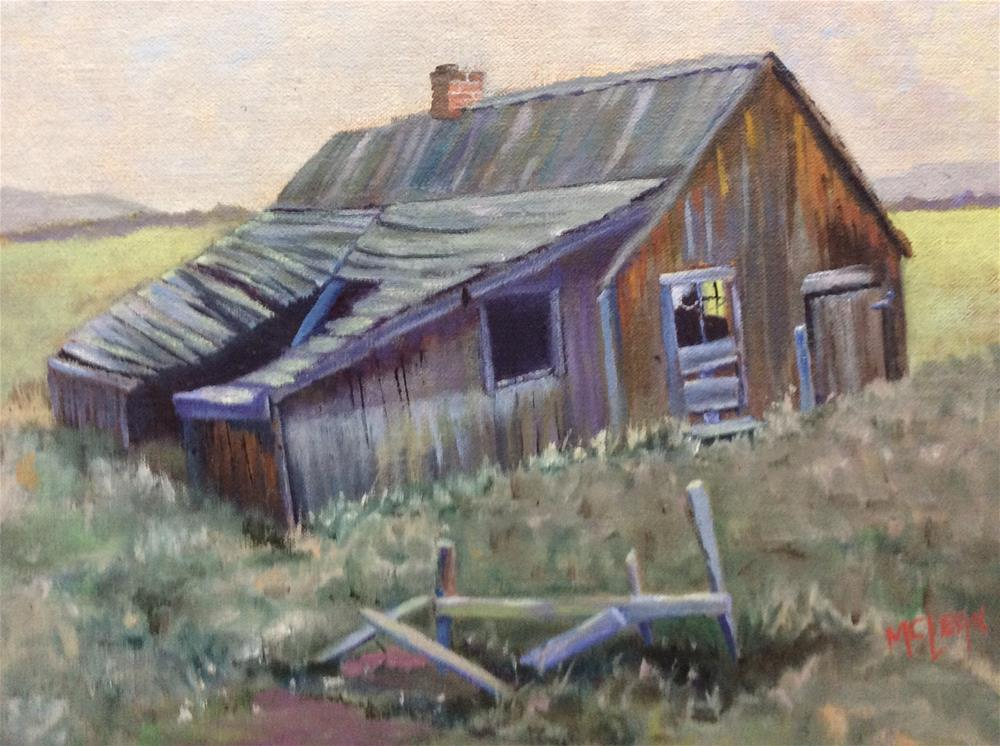 """""""Two Dot Stage Station"""" original fine art by Jean McLean"""