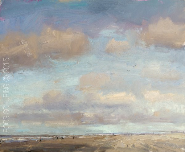 """""""Seascape Sky and Clouds Spring"""" original fine art by Roos Schuring"""