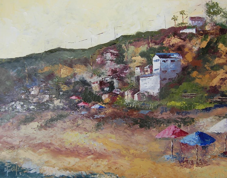 """Afternoon at Crystal Cove"" original fine art by Deborah Harold"