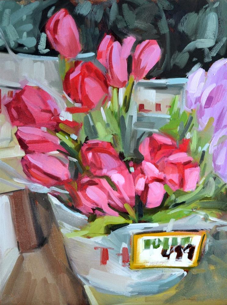 """Trader's Tulips"" original fine art by Jessica Green"