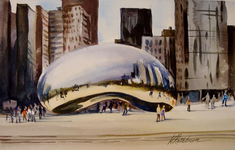 """Chicago series VI"" original fine art by Kathy Los-Rathburn"