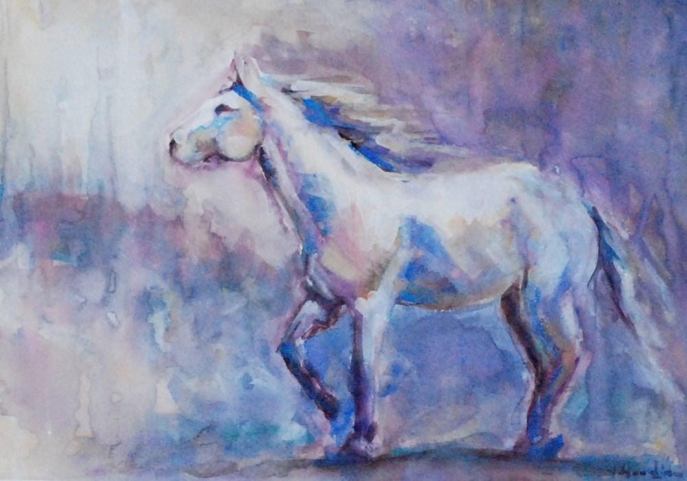 """on my way"" original fine art by Vicki Wood"