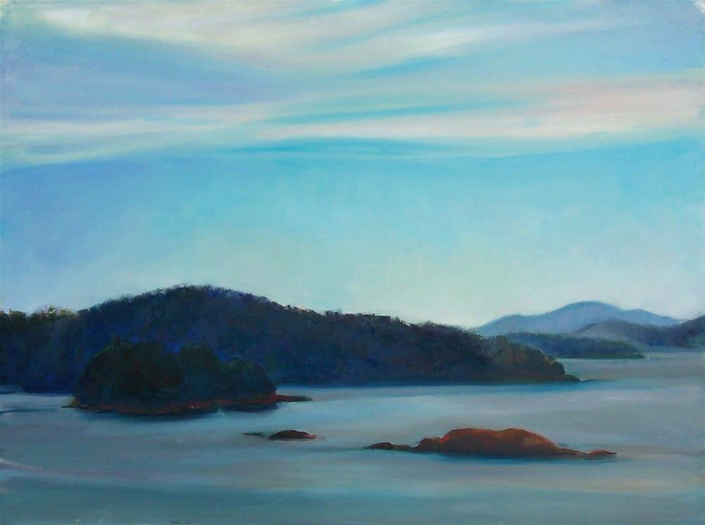 """View from Teddybear Cove,seascape,oil on canvas,9x12,priceNFS"" original fine art by Joy Olney"