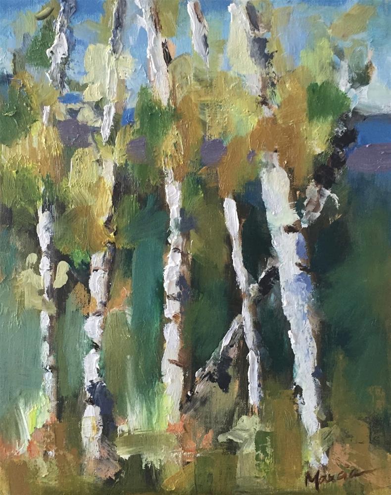 """Aspen Sunday"" original fine art by Marcia Hodges"