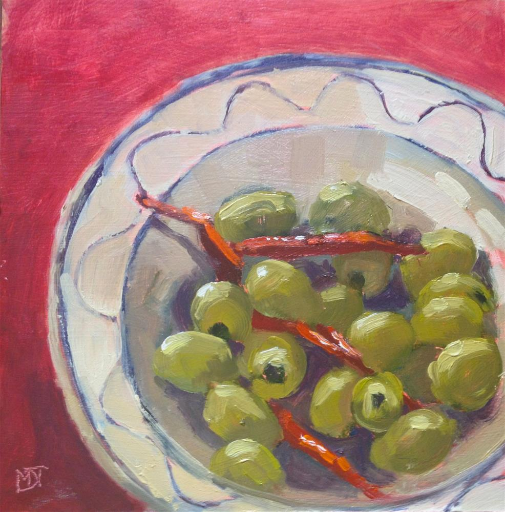 """""""Olives & Chillies"""" original fine art by Mo Teeuw"""