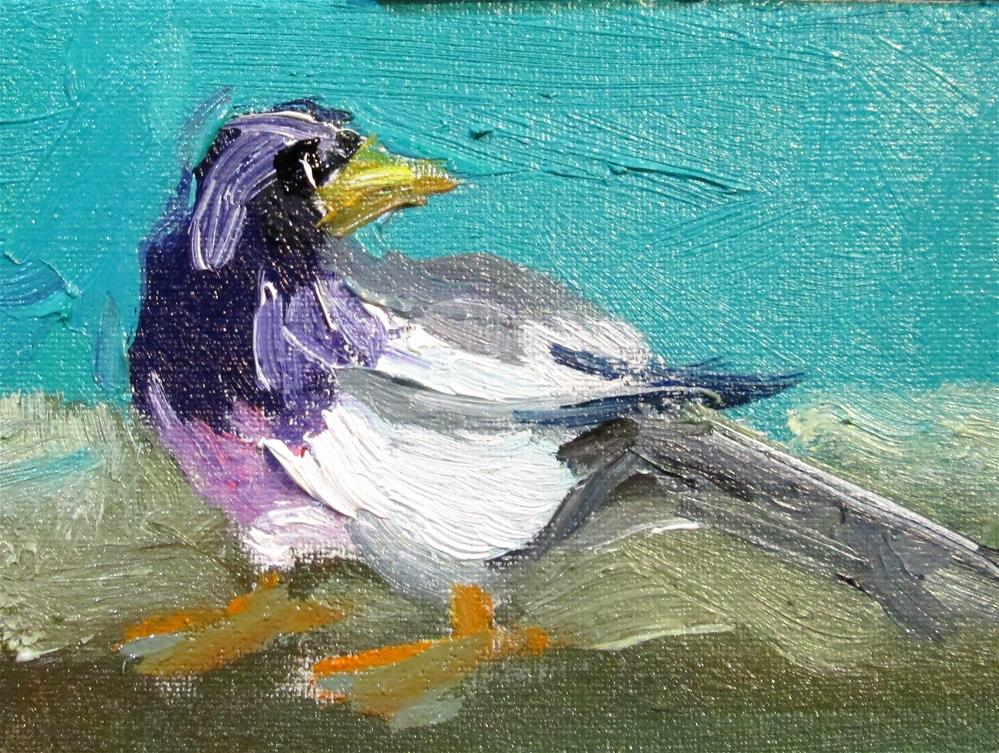 """""""Bird"""" original fine art by Delilah Smith"""