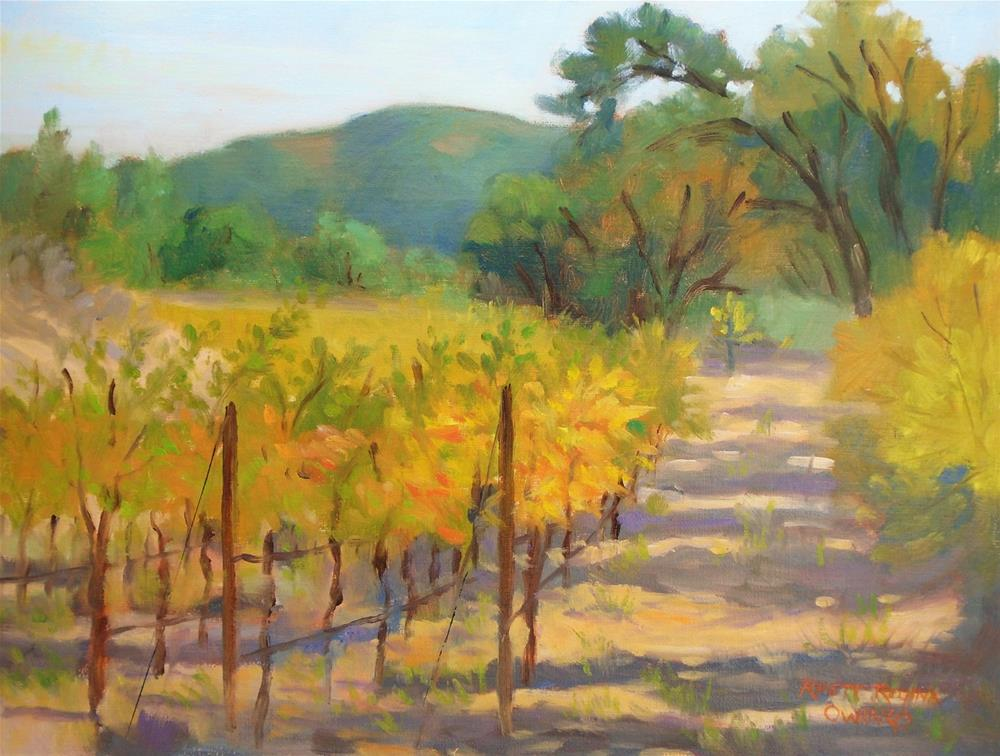 """Path Through the Vineyard"" original fine art by Rhett Regina Owings"