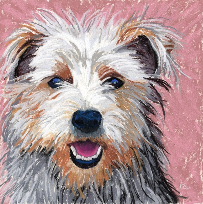 """""""Yorkshire Terrier pastel painting"""" original fine art by Ria Hills"""