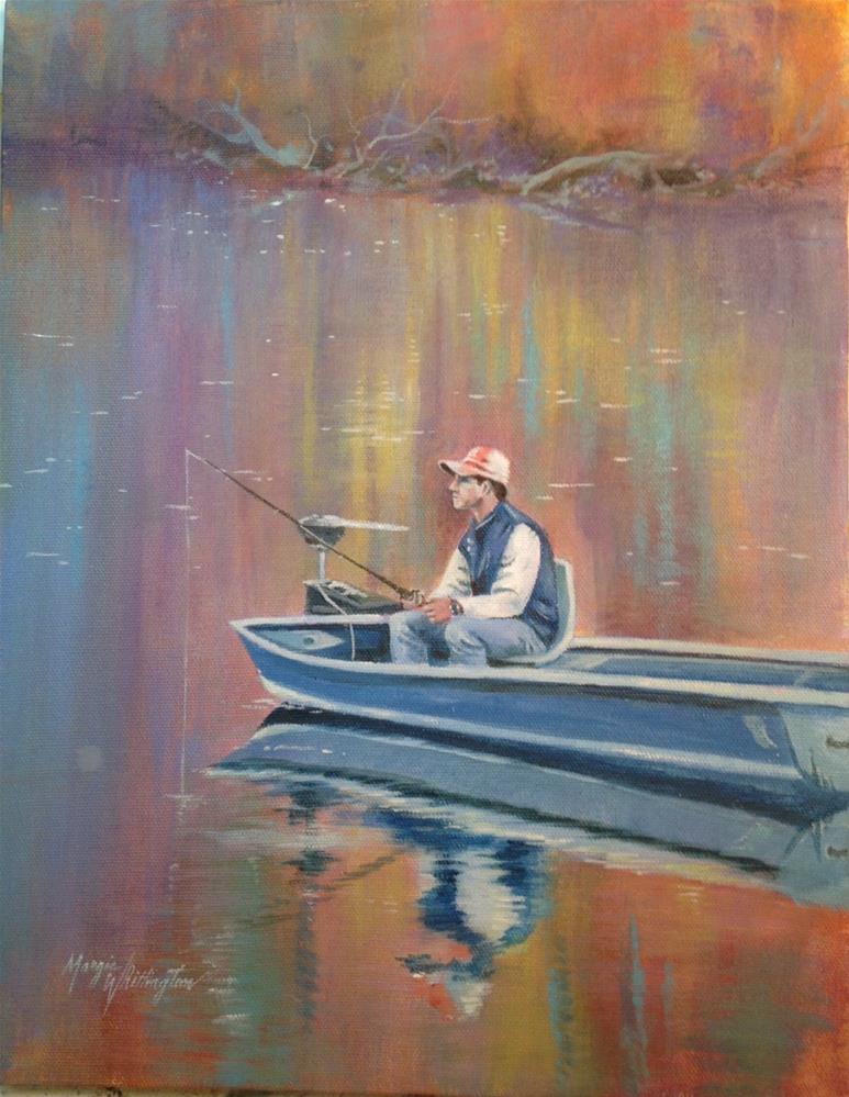 """Gone Fishing"" original fine art by Margie Whittington"
