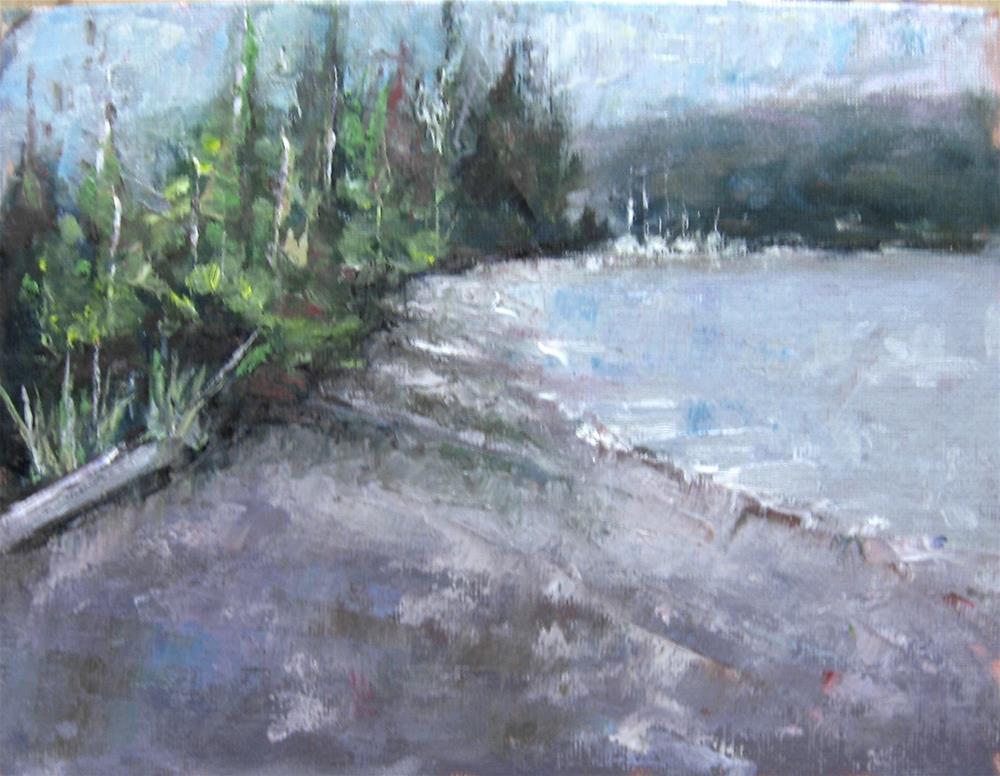 """""""Plein air Beach 9 x 7 inch oil"""" original fine art by Linda Yurgensen"""