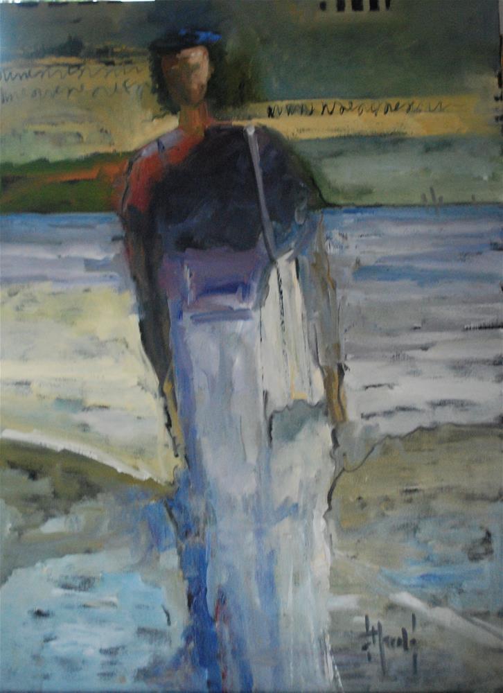 """Messenger"" original fine art by Deborah Harold"