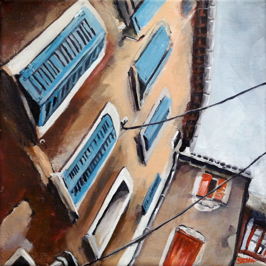 """1620 La facade"" original fine art by Dietmar Stiller"