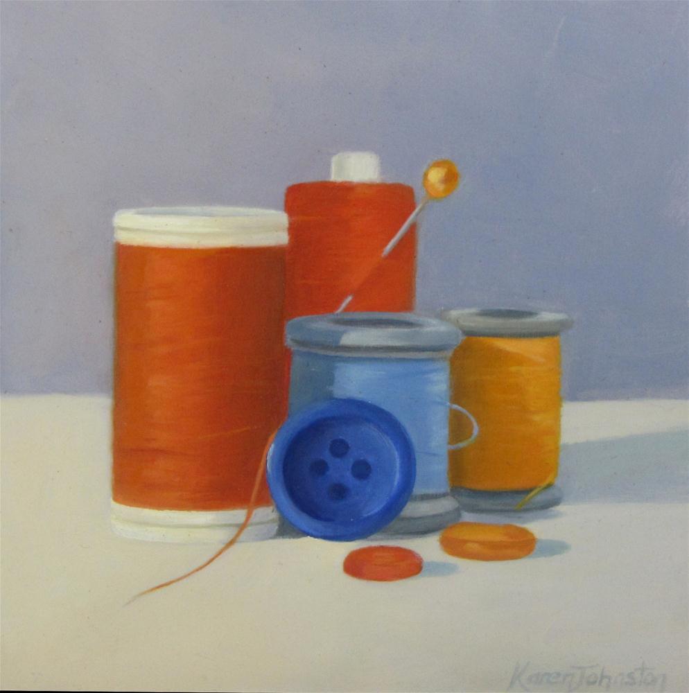"""Cotton Composition"" original fine art by Karen Johnston"