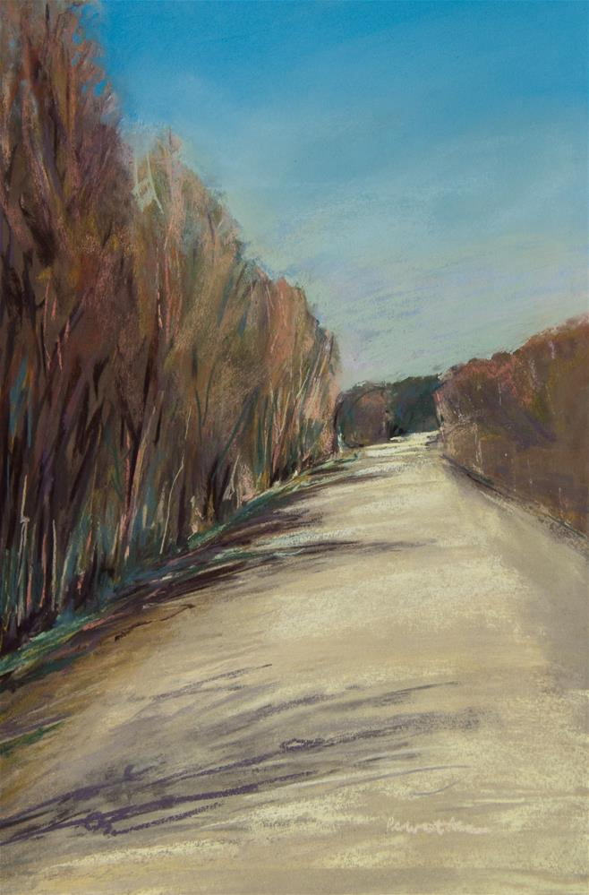 """""""Sun and Shadow on a Gravel Road"""" original fine art by Sarah Peroutka"""