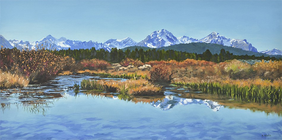 """""""Sawtooth Fall Reflections"""" original fine art by Andy Sewell"""