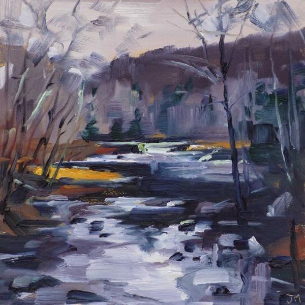"""Croton River at Quaker Bridge"" original fine art by Jessica Miller"