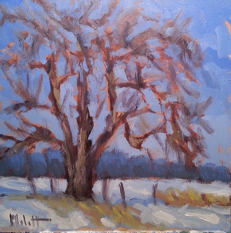 """First Snow Countryside Landscape Original Oil Painting"" original fine art by Heidi Malott"