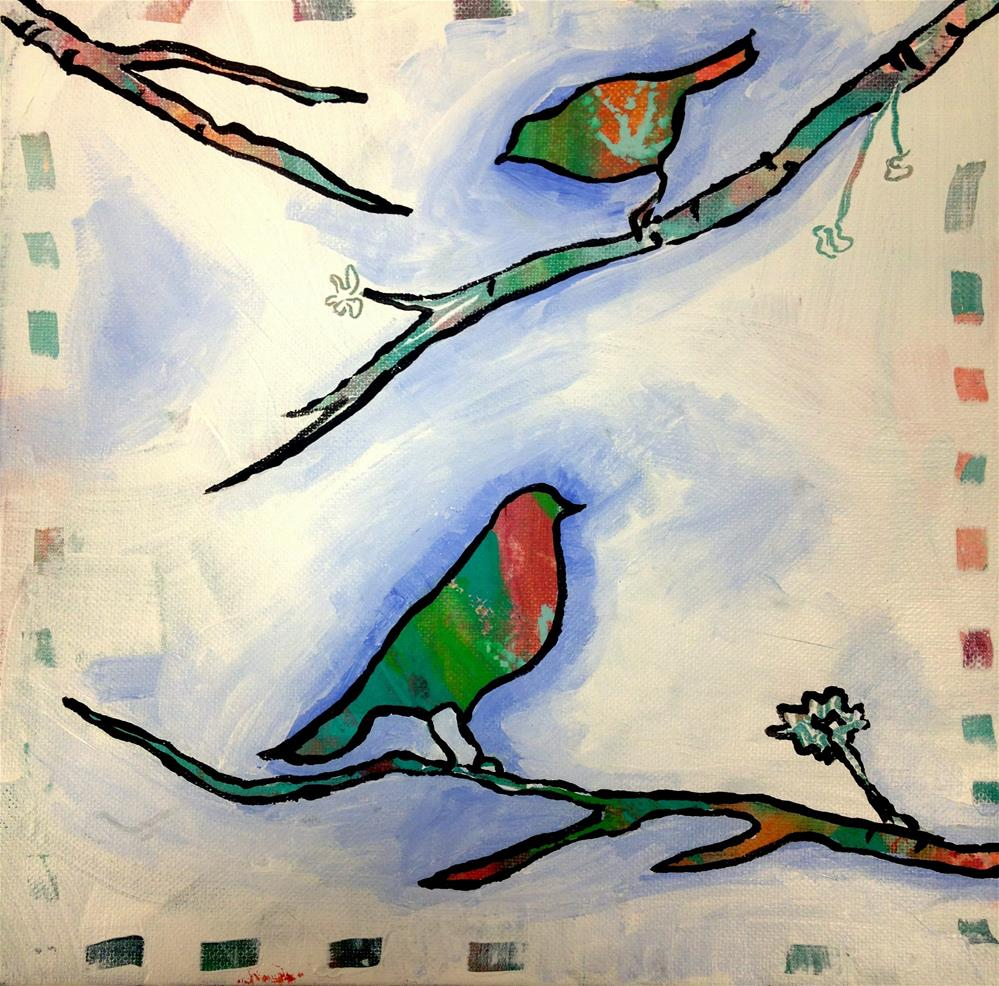 """A Chilly Chatter"" original fine art by Nicole Saunders"